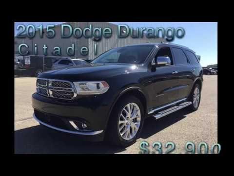 2015 Dodge Durango Citadel Black Leather Awd 18n125a Dodge Durango Awd Dodge Durango For Sale