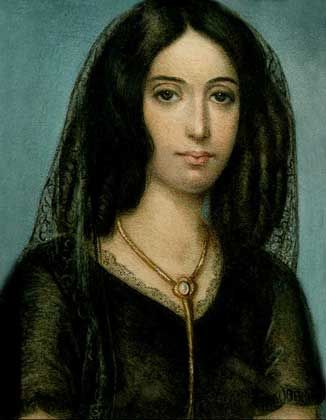 George Sand (1804-1876): writer, feminist, and muse for Chopin, Flaubert and Proust. Secondary to her more significant achievements, Sand caused scandal in Paris by wearing clothes traditionally intended for men and smoking tobacco. http://en.wikipedia.org/wiki/George_Sand