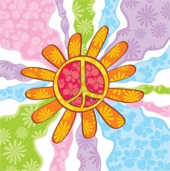 Simbolo Di Pace Hippie, Illustrazione