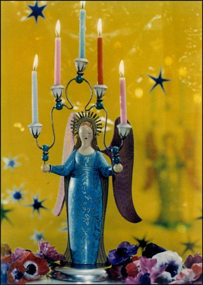 angel candleholder photographed by Madame Yevonde
