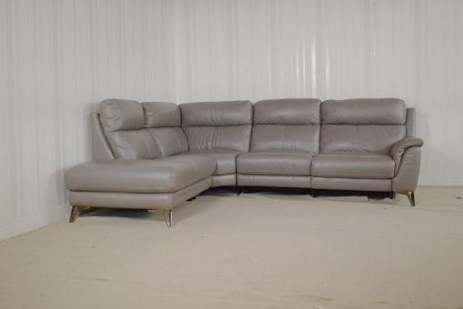 Grey Leather 3 Piece Corner Sofa Pacific Homeflair 3 Piece Corner Sofa Corner Sofa Leather Sofa Sale