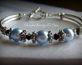 Conjunto de Dama de honor de: pulseras de por beadedjewelryforyou