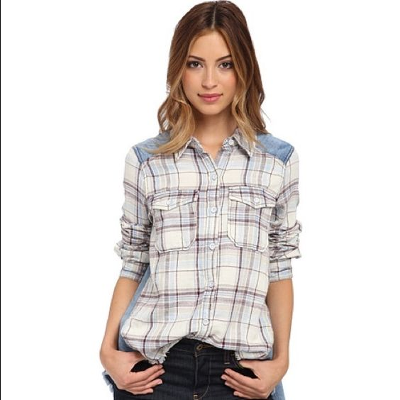Free People Flannel BNWT Never worn before, brand new. Cute with jeans for a relaxed look. Can fit Small, Medium, or Large Free People Tops