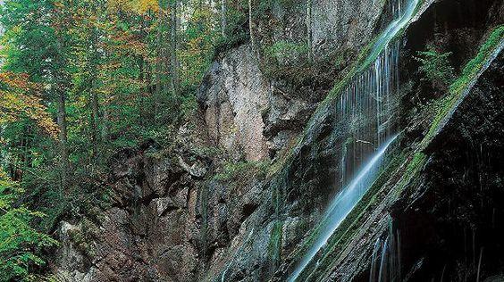 Die Wimbachklamm liegt in den Berchtesgadener Alpen