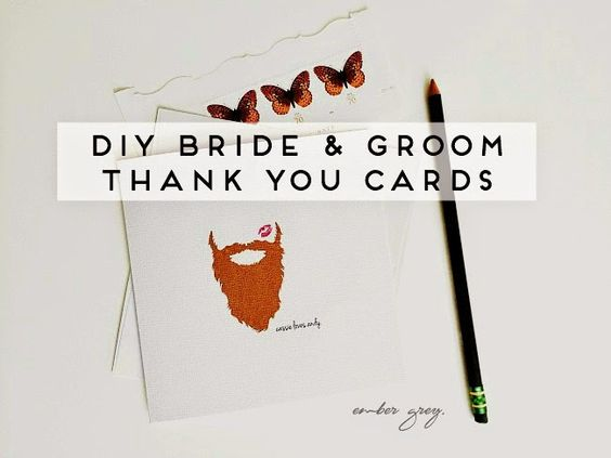 DIY Personalized Thank You Cards for bride and groom, using PicMonkey. Makes a perfect bridal shower gift!