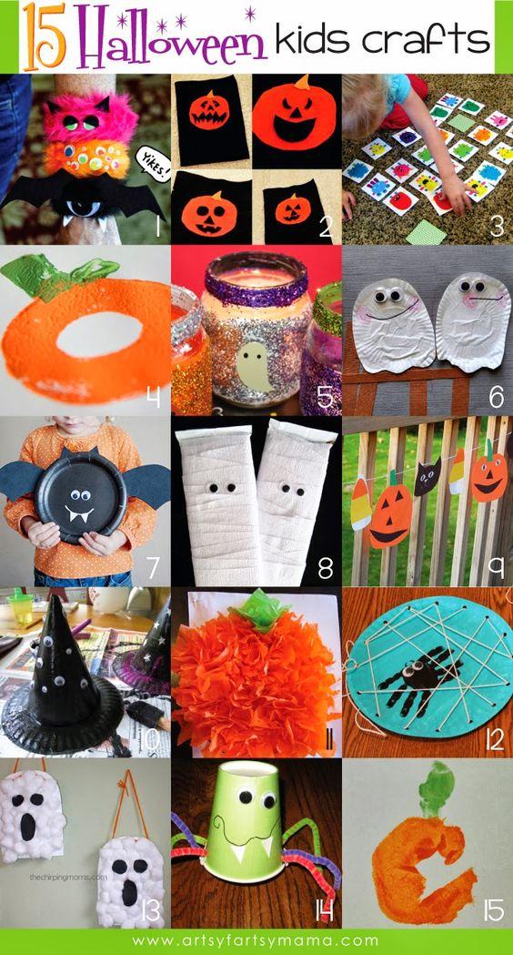 15 ideias para as crianças fazerem arte no halloween