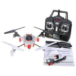 New SYMA X1 SpaceCraft 4CH 2.4G 4-axis 360 3D LCD Gyro RC Helicopter Quad copter by Banggood Co., LTD. $48.00. Specifications: Size: 25 x 25 x 6 cm Charging Time: About 70 Minutes Flight Time: About 8-9 Minutes Control Distance: About 80 Meters Quad-copter Battery: 3.7V 350mAh Li-po Battery Transmitter Battery: 4 x AA (Not Included) Frequency: 2.4G Function: Up, down, turn left, turn right, forward, backward, 360Eversion Outlook: SpaceCraft Features: 3D flips. Stabi...