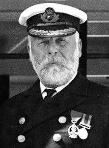 Titanic Captain Edward J Smith was considered known for his quiet flamboyance some passengers would only sail on the boats he captained. He was a Captain of the English Naval Reserve. He is believed to have died when trying to make contact with neighboring ships in the ship's telegraph room.