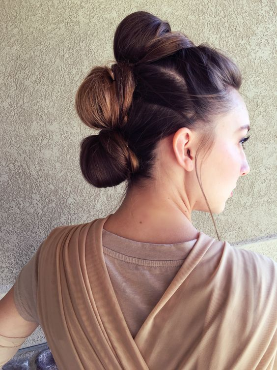 Rey's hair from Star Wars the force awakens