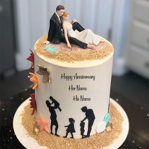 Marriage Anniversary Cake With Name And Photo Marriage Anniversary Cake Happy Anniversary Cakes Happy Marriage Anniversary Cake