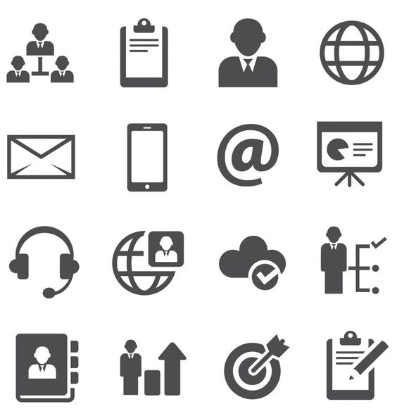 Clean Business Icons Set | Icons / Wallpapers / Templates ...