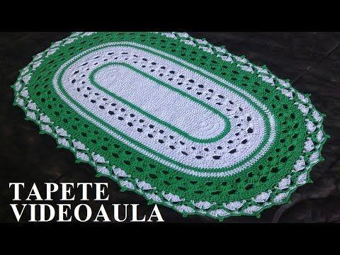 Criações em Crochê: Tapete de Leques | Luciana Ponzo - YouTube