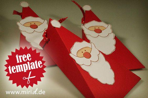 Free template: Santa gift box.