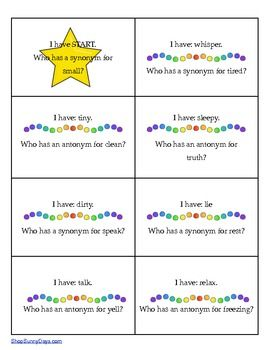 Printables Word Wise  With Synonym ,antonym,homophone pinterest el global de ideas free i have who has synonyms antonyms