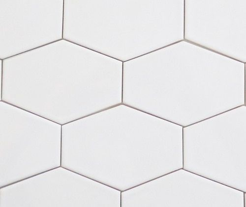Art Studio 8 Elongated Hexagon Matte White Wall Tile