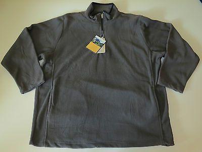 10,000 ft Above Sea Level Men's Pull Over Jacket Charcoal Gray 1/4 Zipper Sz XL