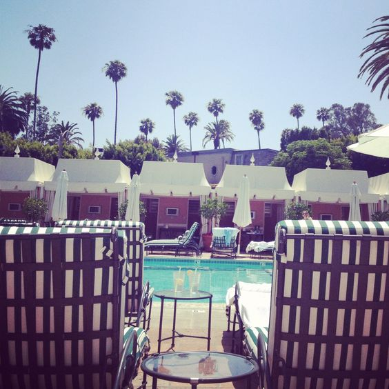 Poolside at Beverly Hills Hotel.