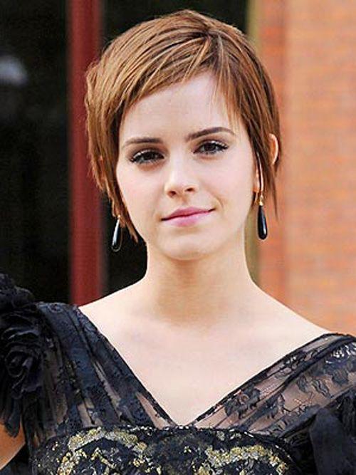 Emma Watsons Kurzhaarfrisur Kurze Blonde Haare Emma Watson Haare Kurze Haare Stylen