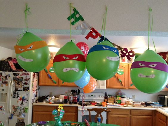 Ninja turtle birthday party balloons Teenage Mutant