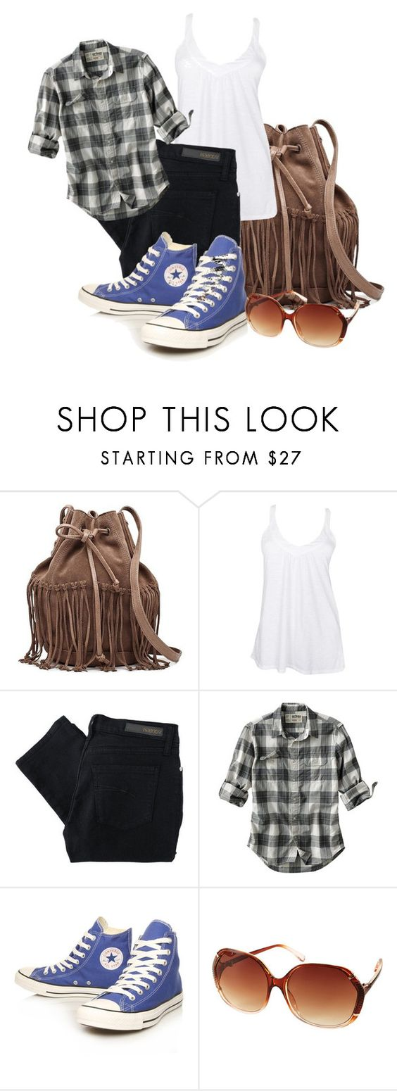 """Casual Wear"" by laceandleatherl101 ❤ liked on Polyvore featuring Witchery, Fresh Laundry, Nobody Denim, Urban Pipeline and Converse"