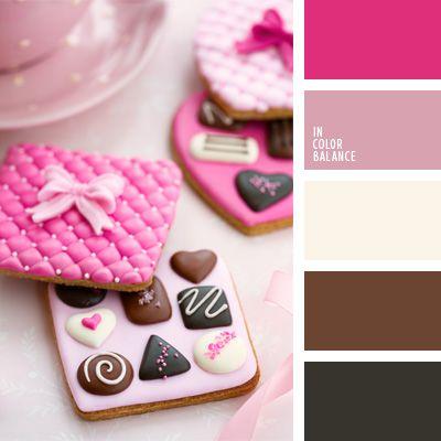 color chocolate, color del chocolate lechoso, color rosado vivo, colores contrastantes, colores para la decoración, colores rosado y chocolate, paletas de colores para decoración, paletas para un diseñador, tonos rosados.