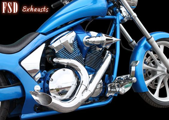 Honda Fury exhaust by Frankie Serrano.  Available at www.viciouscycleworks.us