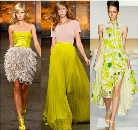 Neon and neutral inspiration from the Spring 2012 runways. We are crushing on this color combo.: Color Mix, Beauty Neon, Dressing Yellow, Color Combos, Amazing Color, Neon Colors, Neon Neutrals