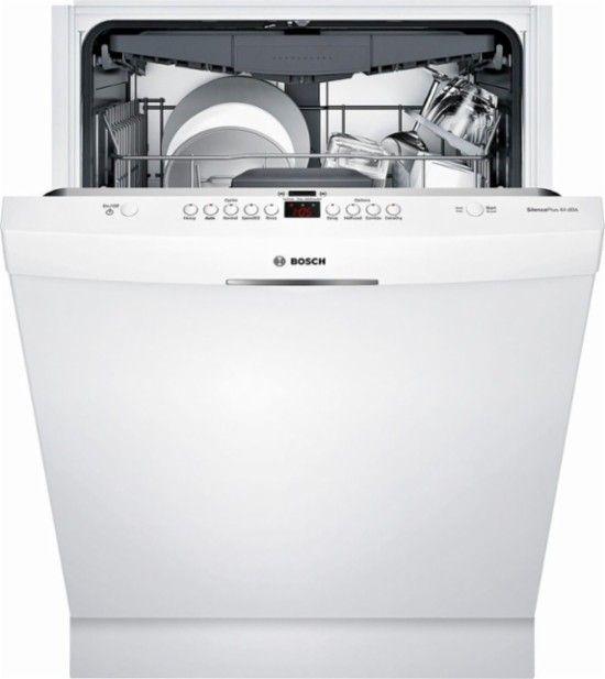 Best Buy Bosch 300 Series 24 Pocket Handle Dishwasher With Stainless Steel Tub White Shsm63w52n Steel Tub Built In Dishwasher Tub