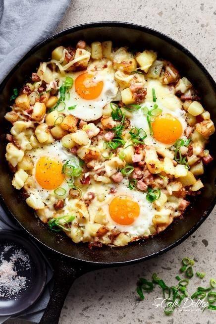 Low FODMAP Bacon Potato and Egg Hash