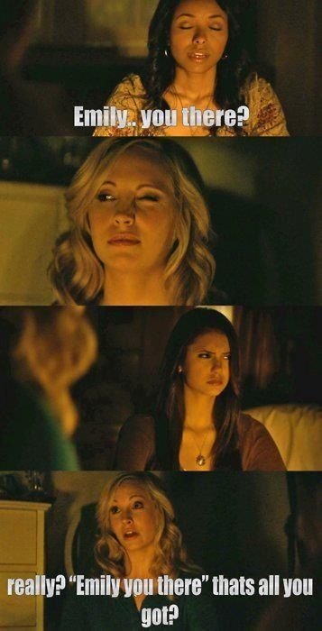 Still why I prefer Caroline over Elena! Her delusional positivity!