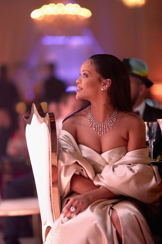 Rihanna in Christian Dior Couture and Cartier
