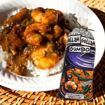 Gumbo and rice and everything nice! Our Gumbo is delicious and has a little kick. Just add water to the package and cook. This product even won a ribbon at AmericasMart in Atlanta! It's great with shr