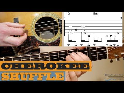 Cherokee Shuffle Traditional Intermediate Guitar Lesson With Tab Youtube Guitar Lessons Guitar Guitar Humidifier