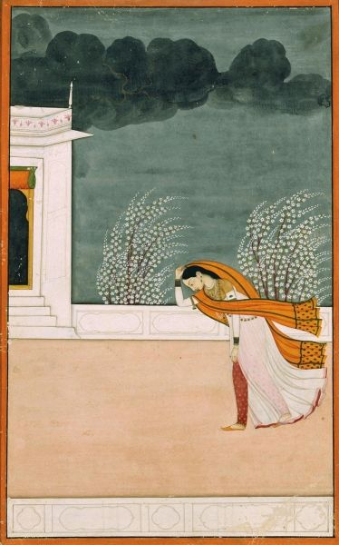 Woman in a Windstorm, c. 1780, Mughal. Ackland Art Museum, The University of North Carolina at Chapel Hill