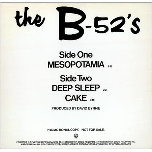 The B-52's - Mesopotamia!!