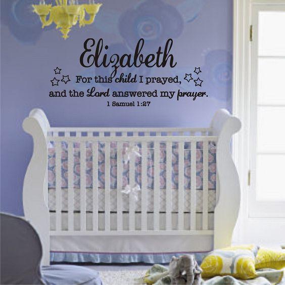 Beautiful nursery wall decal