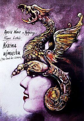 The Land Of Smiles - Franz Lehar - Kraina usmiechu  Original Polish Poster  designer: Andrzej Pagowski  year: 2002