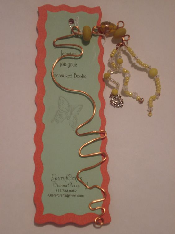 Copper and Yellow book marker