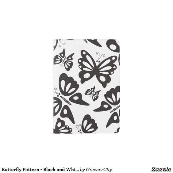 Butterfly Pattern - Black and White