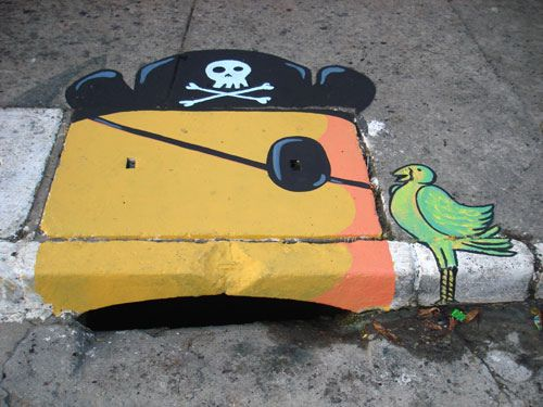6emeia Sewer Art in SÃo Paulo  BY SCOTT BEALE ON SEPTEMBER 18, 2007; For over a year 6emeia, a project created by SAO! and Delafuent, has been converting sewers into amazing street art in São Paulo, Brazil.  via Wooster Collective  photo credit: 6emeia