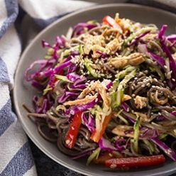 Honey Lime Chicken & Soba Salad - the leftovers make a great lunch!