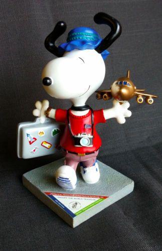 Snoopy-World-Traveler-Peanuts-On-Parade-Figurine-By-Westland-No-8403