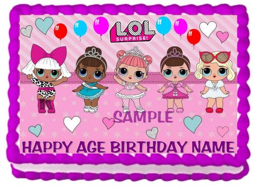 Lol Dolls Cake Topper Edible Birthday Decoration With Images