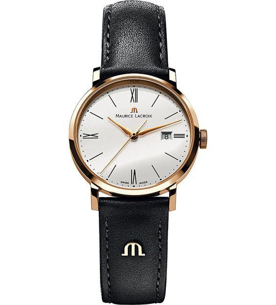 MAURICE LACROIX - EL1084-PVP01-110 Eliros leather strap watch   Selfridges.com