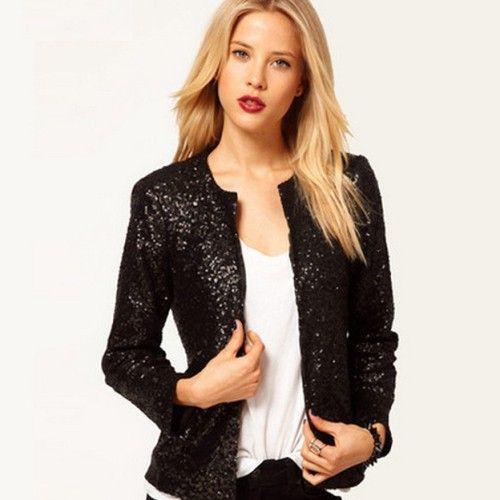 Black Sequin Jacket | Shop Online India | #Jackets #Sequins ...