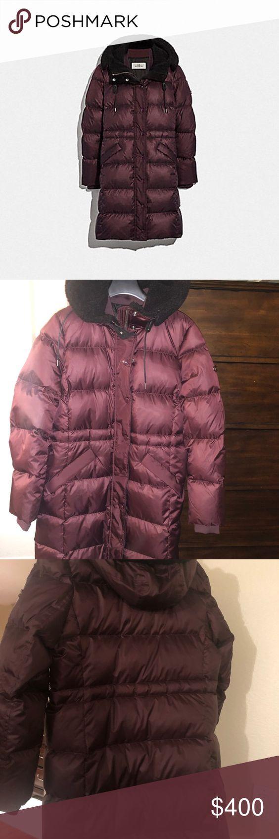 Coach Long Puffer Jacket Long Puffer Jacket Clothes Design Fashion [ 1692 x 564 Pixel ]