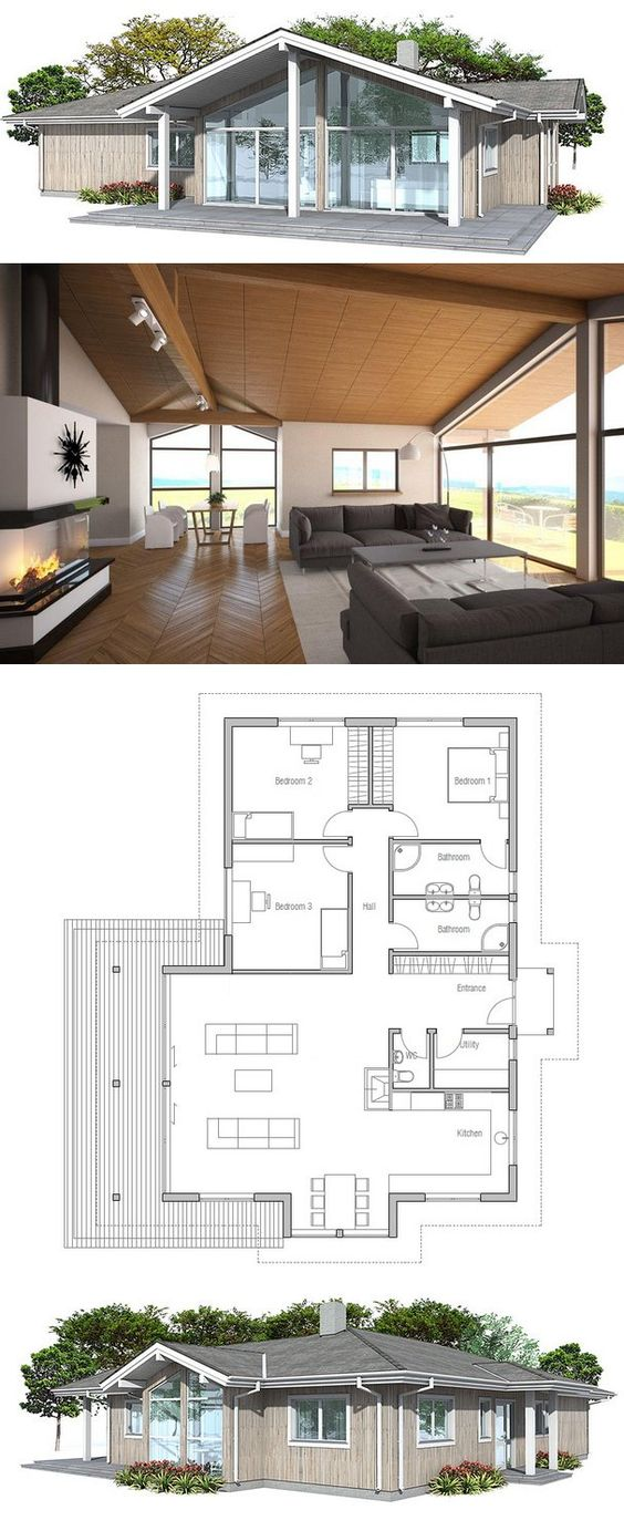 36 best Planos casas pequeñas images on Pinterest Architecture - Plan Maison Sweet Home 3d