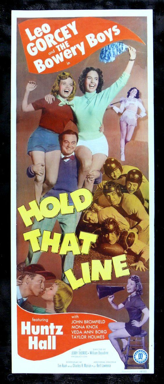 1952 movie posters & stills | ... THAT LINE * CineMasterpiec es BOWERY BOYS FOOTBALL MOVIE POSTER 1952