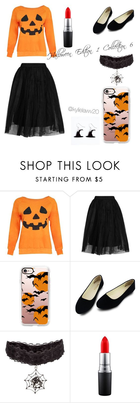 """""""Halloween Edition 1 Collection 6"""" by kylielawv20 ❤ liked on Polyvore featuring beauty, Topshop, Casetify and MAC Cosmetics"""