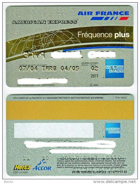 FR AE 001 Air France American Express Fréquence plus card